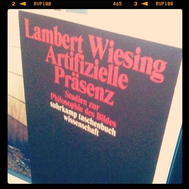 Lambert Wiesing: Artifizielle Päsenz
