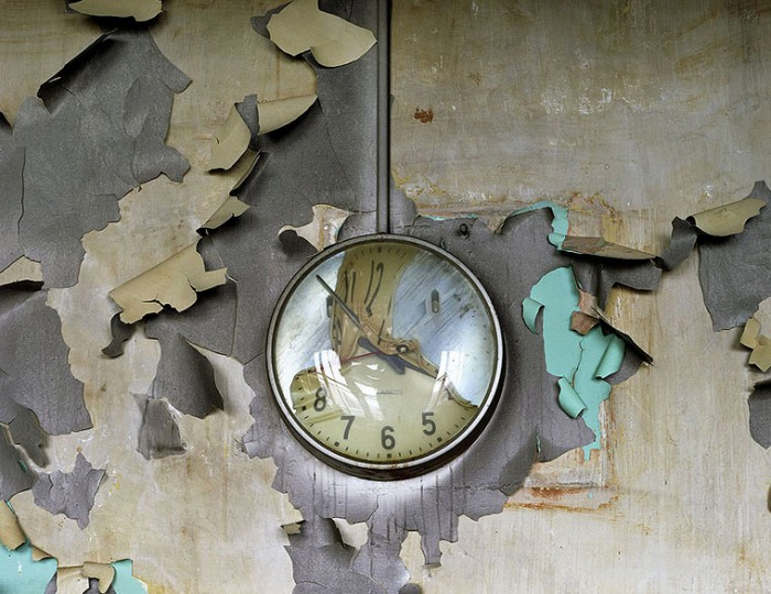 Melted clock, Chicago, Cass Technical High School