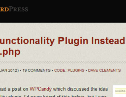 Create a Functionality Plugin Instead of Using functions.php