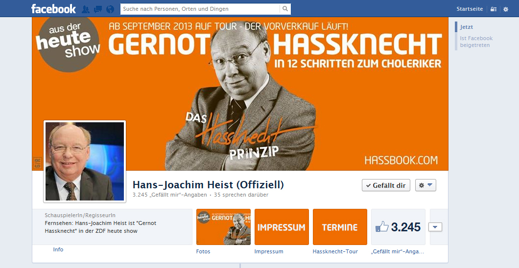 Facebook Hans-Joachim Heist