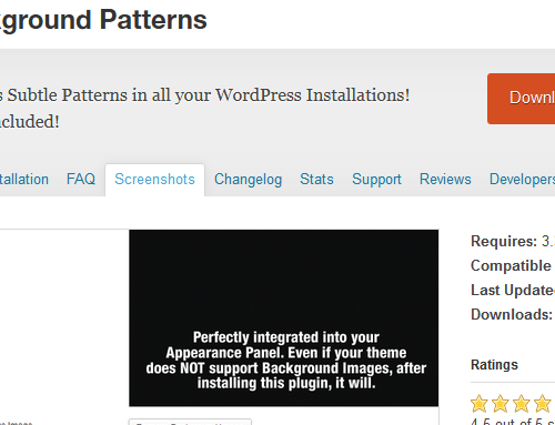 WordPress-Candies: Subtle Patterns Plugin